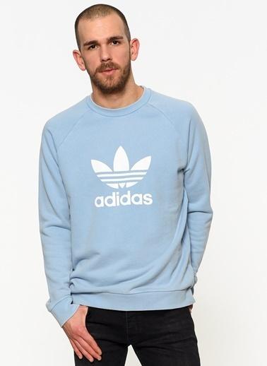 adidas Uzun Kollu Sweatshirt Mavi